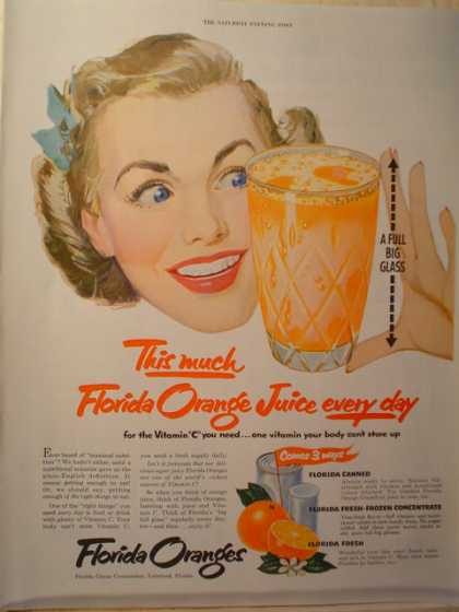 "Florida Oranges ""Florida orange juice every day"" (1952)"