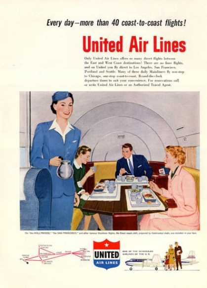 United Airlines First Class Stewardess (1952)