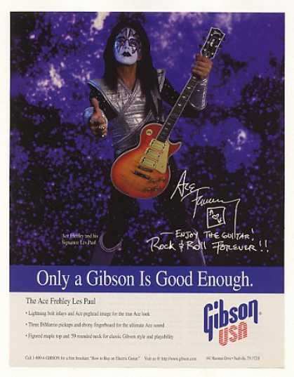 Ace Frehley Gibson Les Paul Guitar Photo (1998)