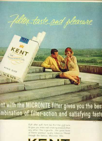 Kent Cigarettes Couple Smoking On Steps (1963)