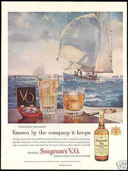 Seagram's VO Whisky Sailboat Vintage (1958)