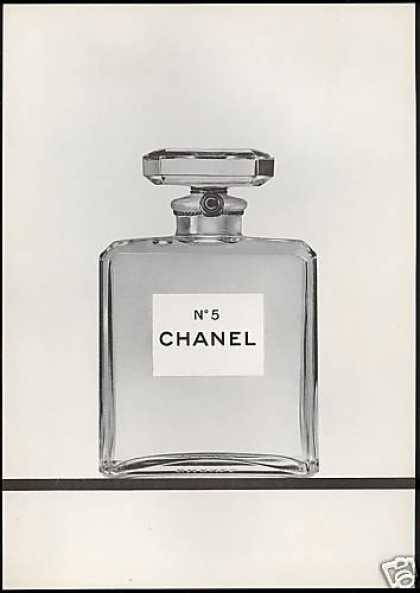Classic Chanel No 5 Perfume Bottle Photo (1968)