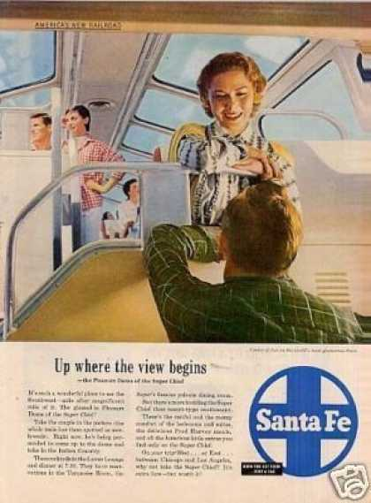 "Santa Fe Ad ""Up Where the View... (1955)"