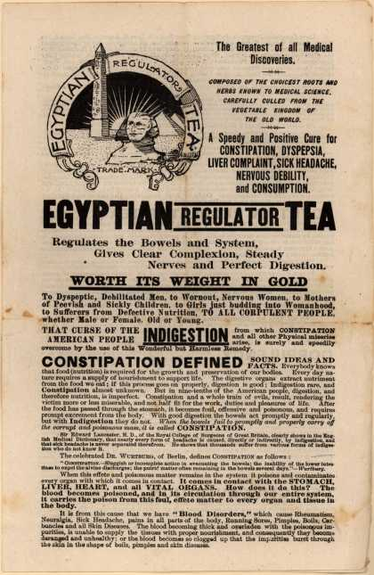 Prof. J. A. Lawrence's Egyptian Regulator Tea – Egyptian Regulator Tea