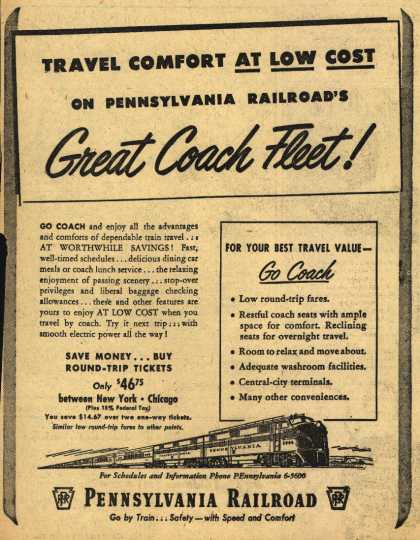 Pennsylvania Railroad – Travel Comfort At Low Cost On Pennsylvania Railroad's Great Coach Fleet (1951)