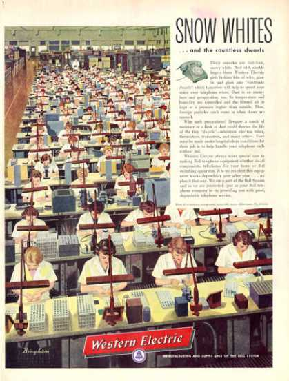 Western Electric Phone Assembly Line Snow White (1956)