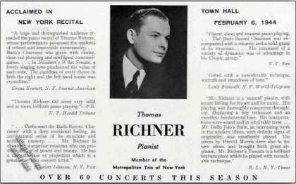 Thomas Richner Photo Pianist Trade (1944)