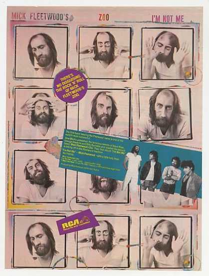 Mick Fleetwood's Zoo I'm Not Me Photo Promo (1983)