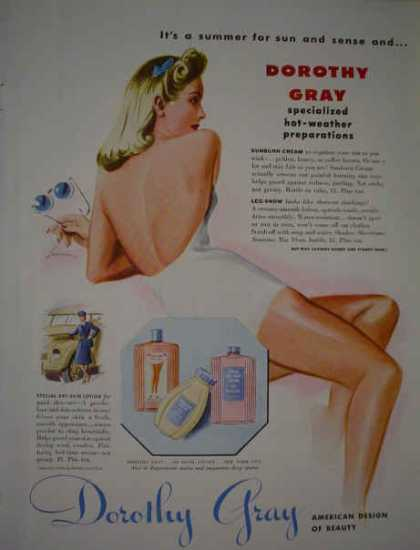 Dorothy Gray Beauty AND Kinsey Blended Whiskey (1943)