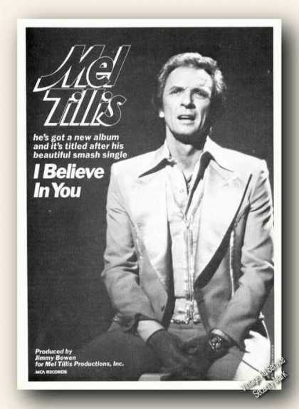 Mel Tillis Photo Advertising Music Album Promo (1978)