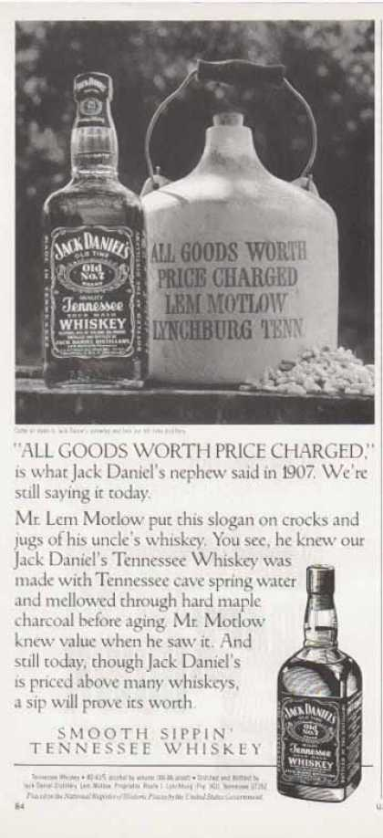 Jack Daniel's – All Goods Worth Price Charged (1990)