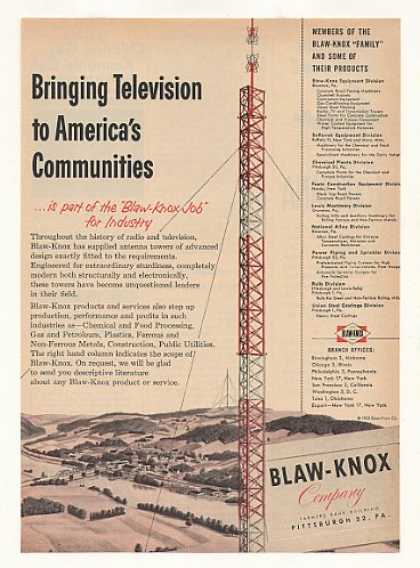 Blaw-Knox TV Television Antenna Tower (1953)