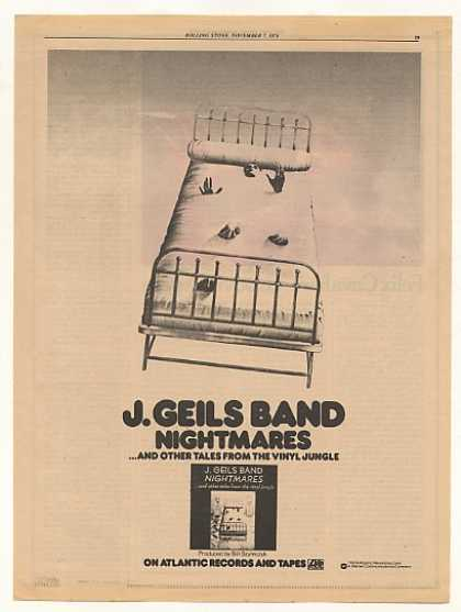 J Geils Band Nightmares Atlantic Records (1974)