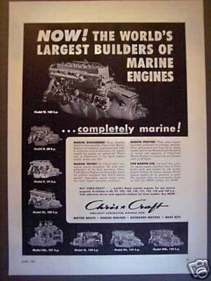 Chris Craft Marine Boat Engines 8 Models (1951)