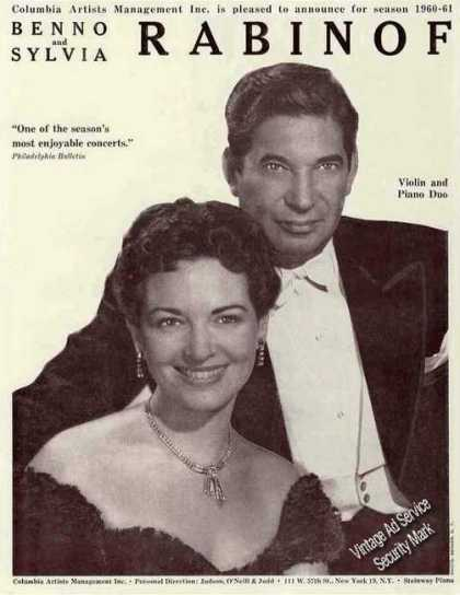 Benno & Sylvia Rabinof Violin & Piano Duo Trade (1960)