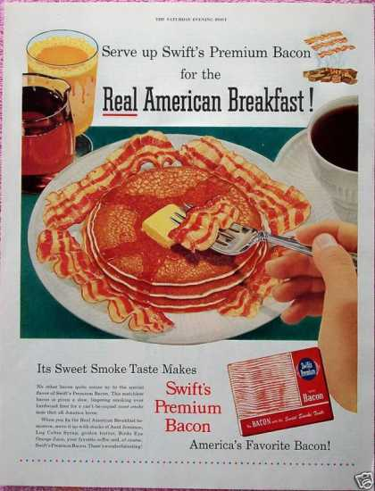 Swift Premium Bacon Pancakes Real Breakfast (1952)