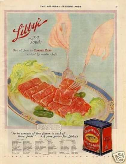 Libby's Corned Beef Color (1928)