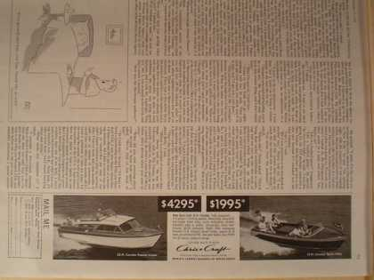 Chris Craft Boat Boats 1/4 page (1959)