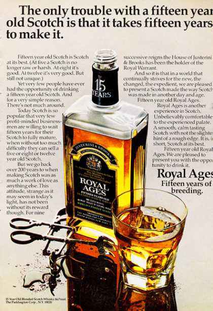 Royal Ages Whisky Bottle (1972)