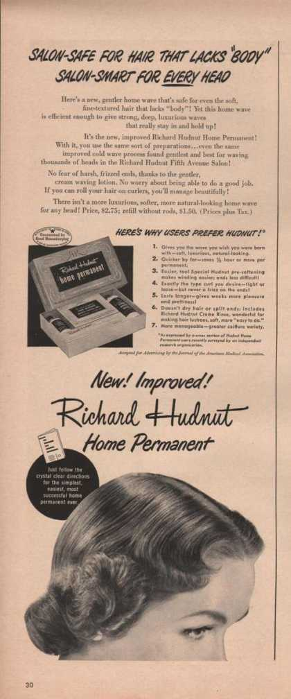 Home Hair Permanent By Richard Hudnut (1949)