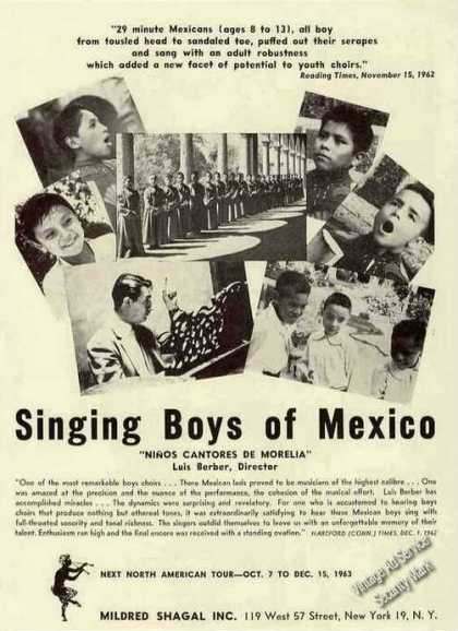 Singing Boys of Mexico Photos Booking (1963)