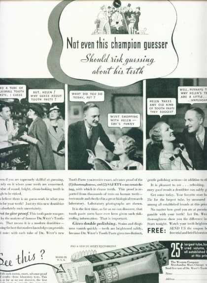 Dr. West's Tooth Paste Champion Guesser (1933)