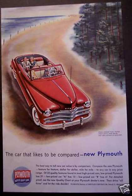 Red Chrysler Plymouth Car Auto (1949)