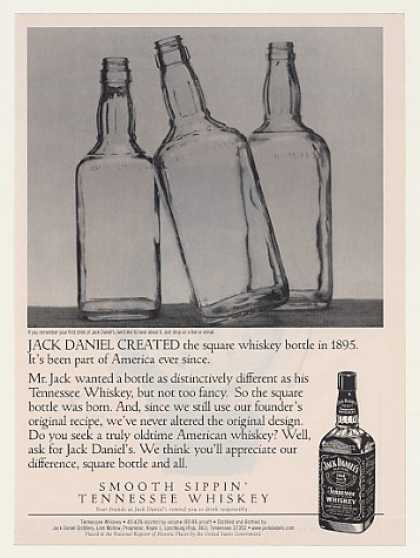 Jack Daniel's Created Square Bottle in 1895 (1999)