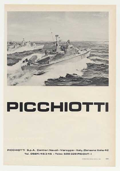Picchiotti S33 Military Boat Photo (1980)