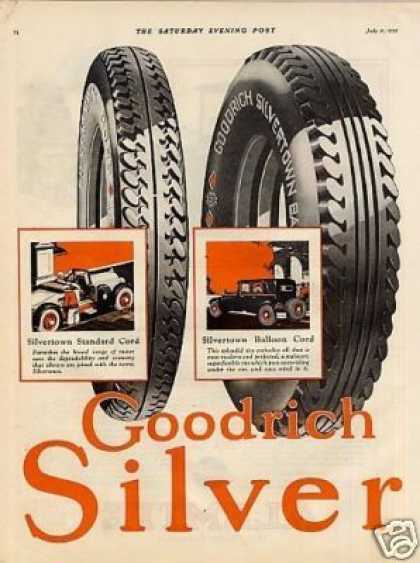 B.f. Goodrich Tire Color Ad 2 Page (1925)