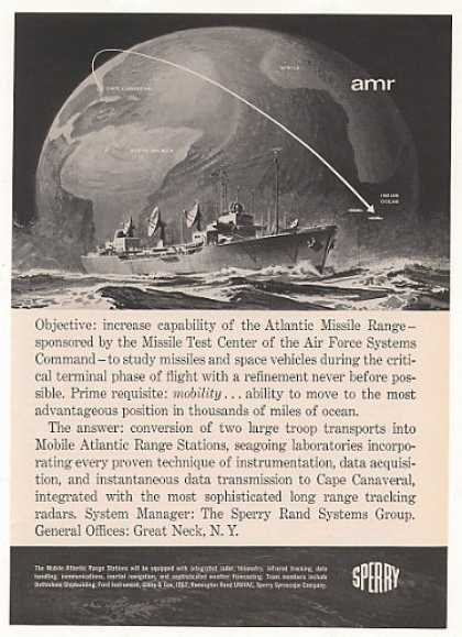 Sperry Mobile Atlantic Missile Range Ship (1961)