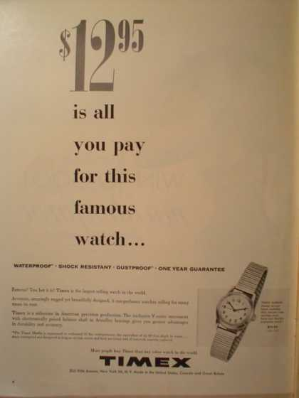 Timex Watch $12.95 is all you pay (1955)