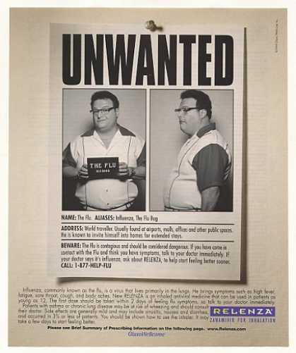 Wayne Knight Unwanted Flu Bug Relenza Photo (2000)