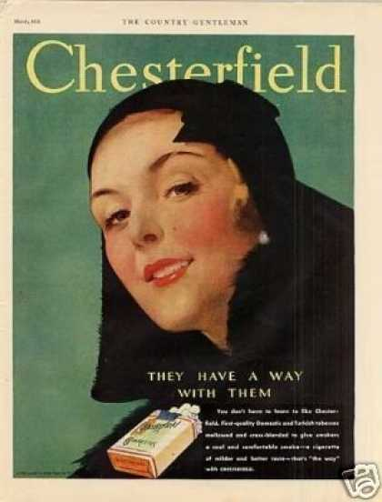Chesterfield Cigarettes Color (1931)