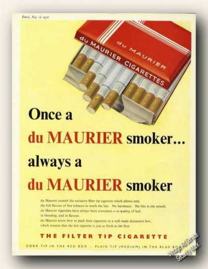 Du Maurier Cigarettes Antique Uk Color (1956)
