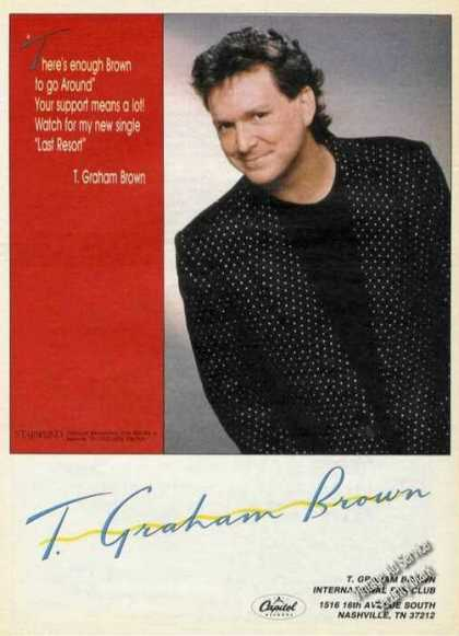 T Graham Brown Photo Country Music (1988)