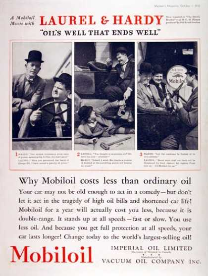 Mobiloil Movie – Laurel & Hardy (1933)