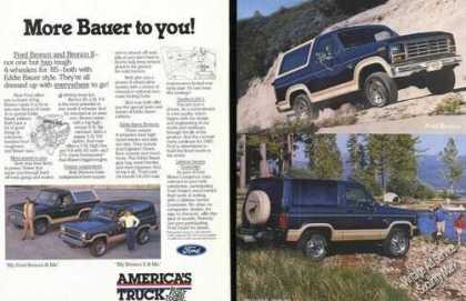 Ford Bronco Eddie Bauer Truck Advertising (1985)