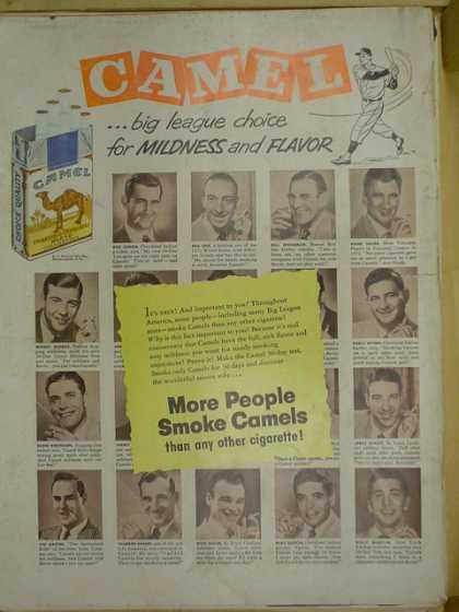Camel Cigarettes. Baseball. Big League choice. (1953)