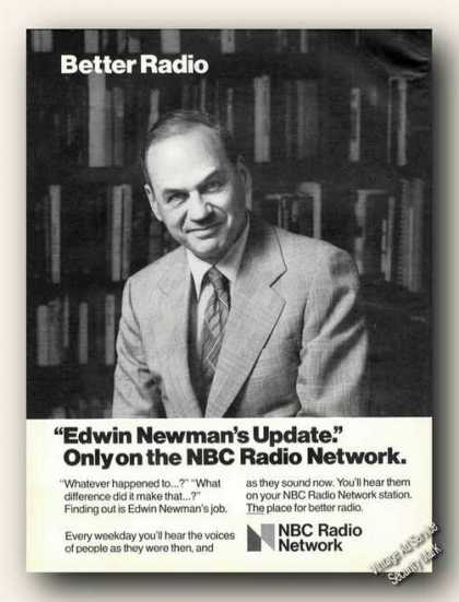 Edwin Newman Photo Nbc Radio Network (1978)