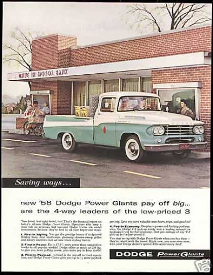 Dodge Truck Pickup Photo Vintage (1958)