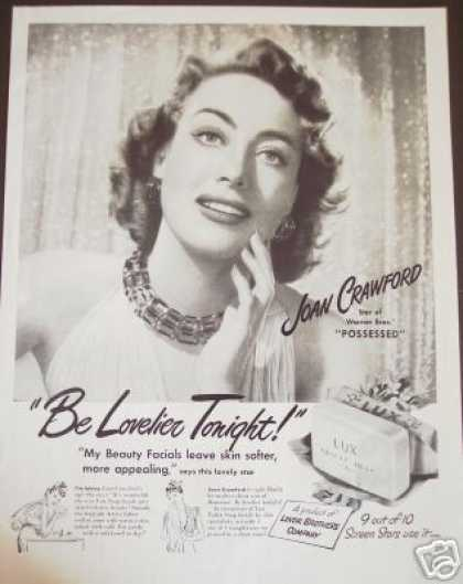 Joan Crawford Movie Possessed Photo Lux Soap (1947)