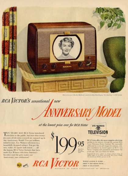 Rca Victor Miss Kyle Macdonnell Tv Television Ad T (1949)