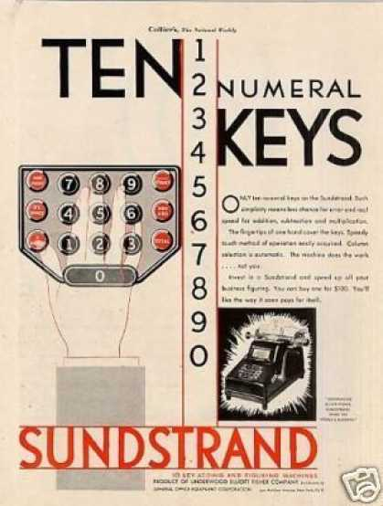Sundstrand Adding Machine Color (1930)