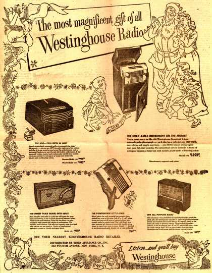 Westinghouse Electric Corporation's Various – The most magnificent gift of all: Westinghouse Radio (1947)