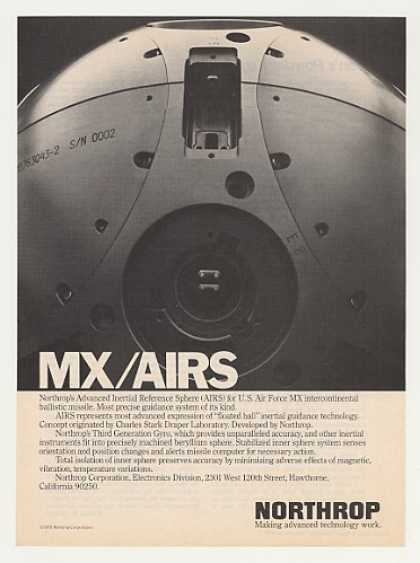 Northrop AIRS Sphere USAF MX Missile Photo (1979)