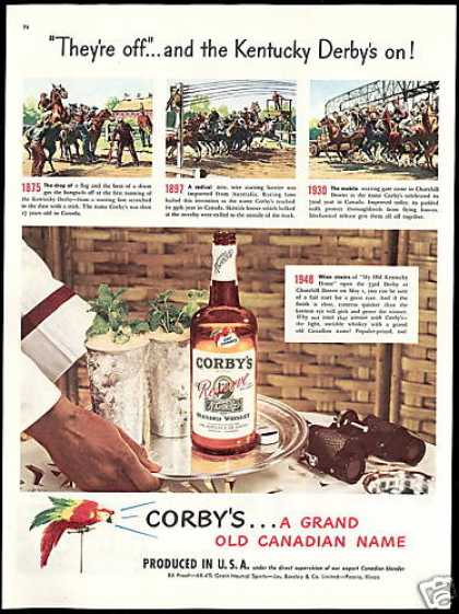 Corby's Whiskey Kentucky Derby Horse Race (1948)