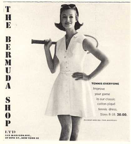 The Bermuda Shop Tennis Outfit (1963)