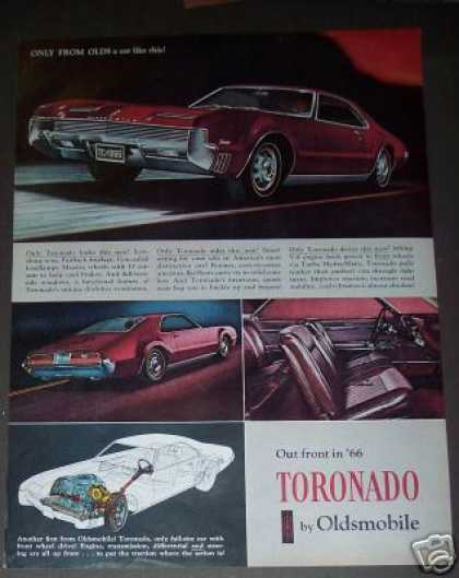 Oldsmobile Toronado Red Car Photo (1966)