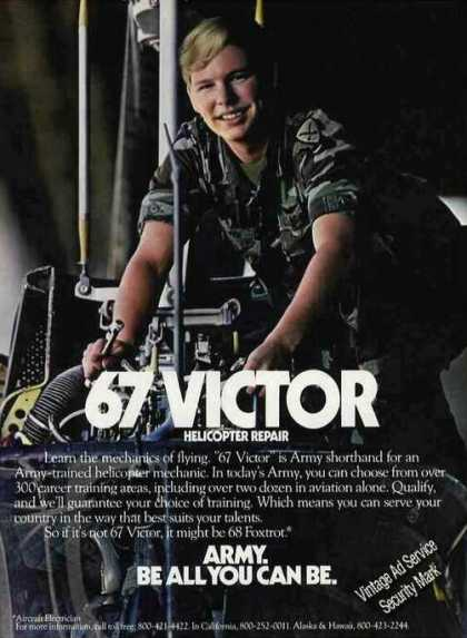 "Army Recruiting ""67 Victor"" Helicopter Repair (1983)"